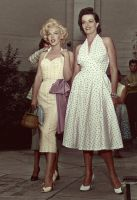 Marilyn and Jane Russell by KraljAleksandar