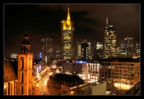 Frankfurt by Night by p0rphyrogene