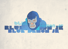 Blue Demon Jr by elroyguerrero