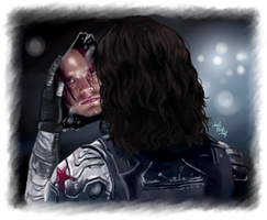 Bucky Barnes - Broken by LadyMintLeaf