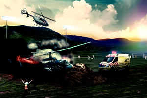 Helicopter Crash by ravr