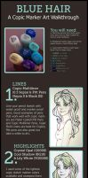 Blue hair copic walkthrough by OneFreeInternet