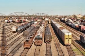 Train Yard in Winnipeg by Joe-Lynn-Design