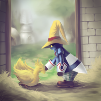 Vivi Ornitier and Chocobo by OpiumKyo