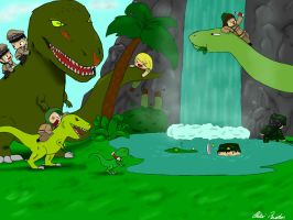 AT one day in Jurassic park by chibi-raiden