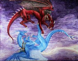 Thorn and Saphira by PuppyBleew