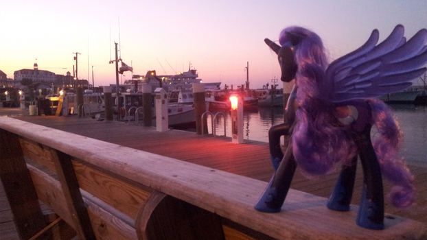 Nightmare Moon On Old Harbor by Poniker