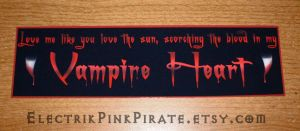 Bloody Vampire Heart...sticker by ElectrikPinkPirate
