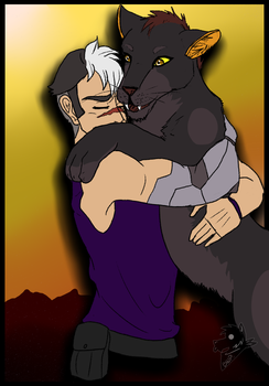 Shiro and Back Lion by Big-Wolf-Pup