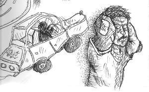 Sketchbook Car and Person by antiflag8789