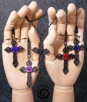 Black Rosary Necklaces Collection by Gloomyswirl