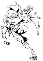 Darkstalkers BW: Rikuo by Peter-the-Tomato