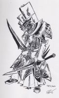 tribal knight 1 by RoyCorleone