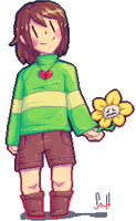 Greetings. (Pixel Chara) by UglyTree