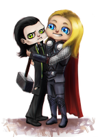 ChibiCommission  Come here lil brothur o3o by Tavvi