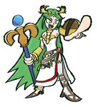 Super Smash Bros - Palutena Redraw! by Guuguuguu