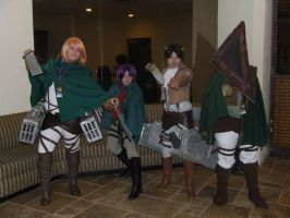 Attack on titans characters! by CosplayCrazyProducti