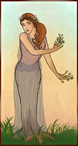 Daphne: In the Style of Alphonse Mucha