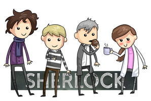 Sherlock stick drawings by Amphany