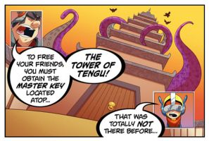 Bravoman Trivial-Tower Panel 1 by D-Gee
