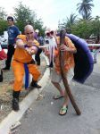 Krillin and Master Roshi cosplay by Shippuden23