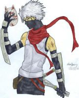 Anbu kakashi coloured by LisaFeary