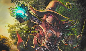 Witch in Forest | Signature | Photoshop by CagBcn