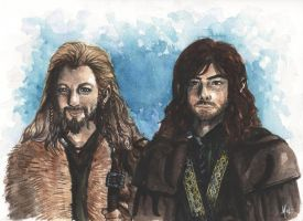 Fili and Kili by obduracy