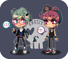 doodle buddies #4 [offer to adopt : closed] by Shotze