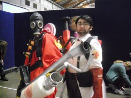 Supernova 2013 Pyro and Medic Cosplay by DuchessRush