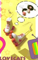 Old School earrings by vrlovecats