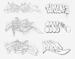 Graff Sketches 05 by JohnVichlenski