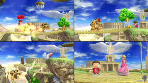 Super Smash Bros 9-Gag #3: Super Villager Bros. by PxlCobit
