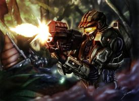 Halo Firefight by fromthedead