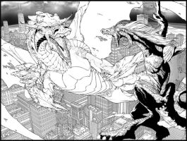 Adian's Dragons BW HD by RStotz