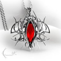 URAGHARN - silver and red quartz. by LUNARIEEN