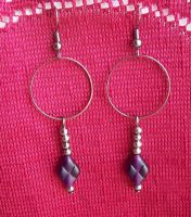 Gunmetal Hoops by BastsBoutique