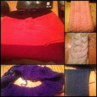 Knitting WIPS by songsforever