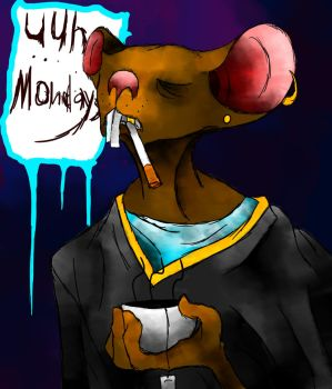 Monday The Rat by ismell-loudnoises