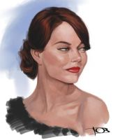 Emma Stone sketch 3 by tonyob