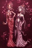 Sparkly Dresses by SybLaTortue