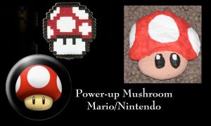 Power-Up Mushroom Ornament by All-shall-fade