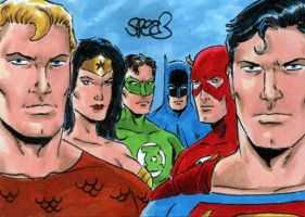 JLA Sketch Card by Spears by markman777