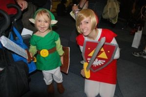 Baby Link and Red Link by kawaiilove