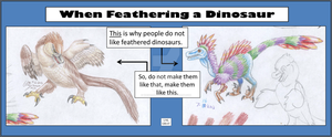 When Feathering a Dinosaur by WhiskerfaceRumpel