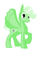 Flying Mint Pony by Yoshi123pegasister