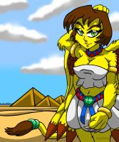 Miki The Giant Sphinx Girl by Enshohma