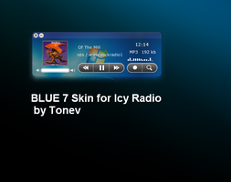 BLue 7 theme for Icy Radio by tonev