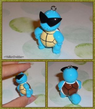 Pokemon - Squirtle Squad Leader Necklace Charm by YellerCrakka