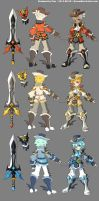 DragonNest Costume design-Warrior by ZiyoLing